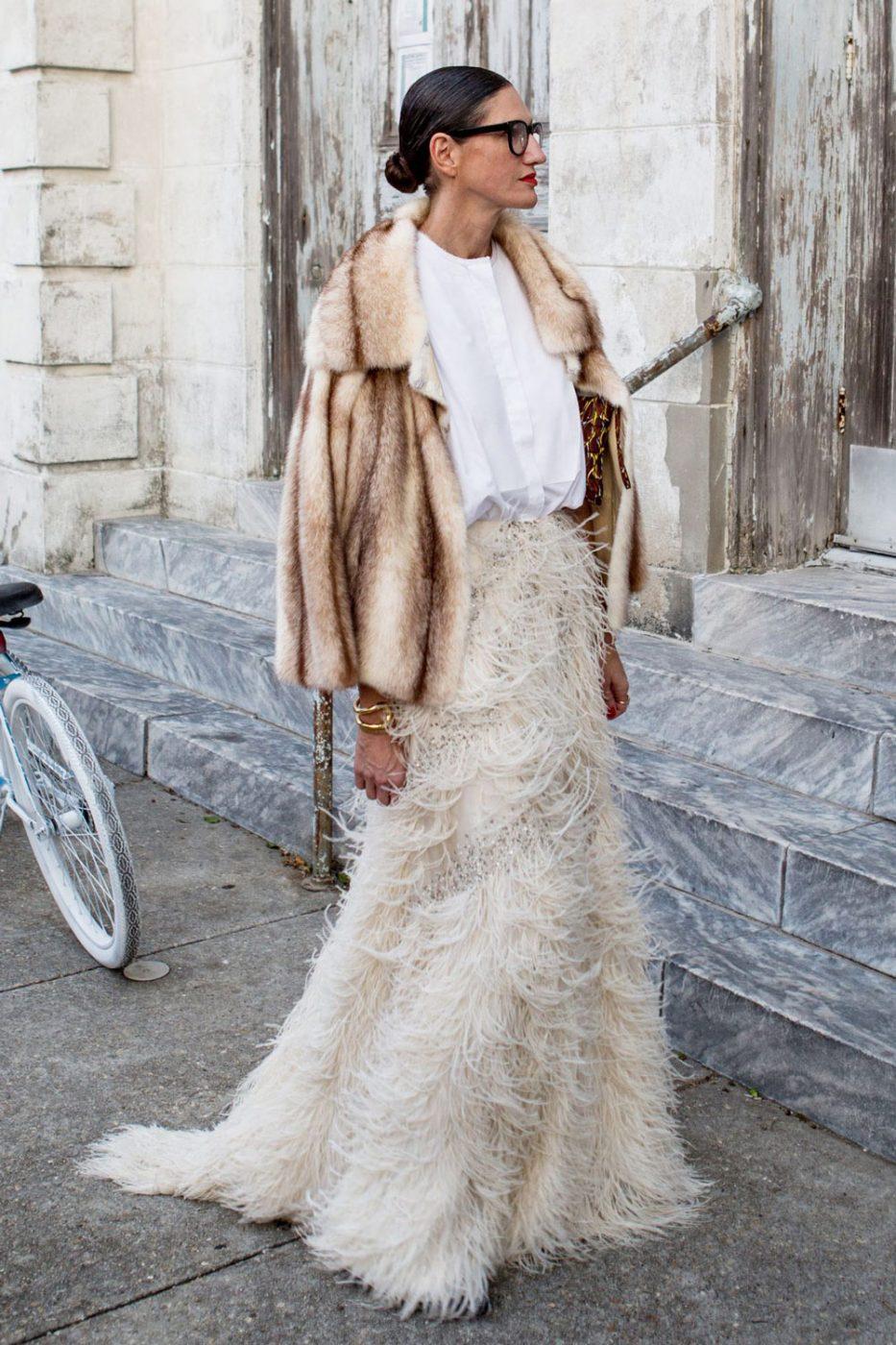 Jenna Lyons Feather Skirt