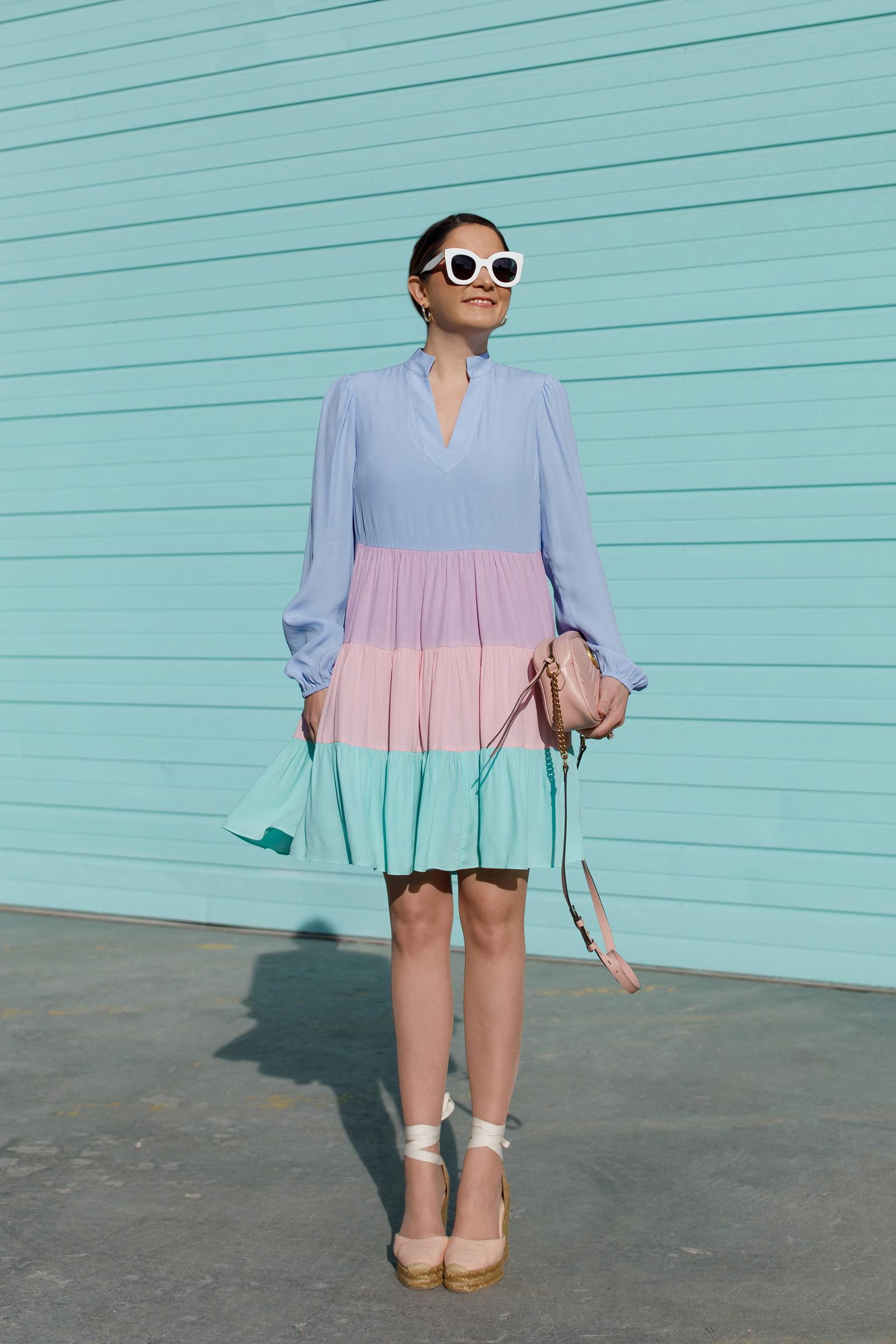 Jennifer Lake Colorblock Dress