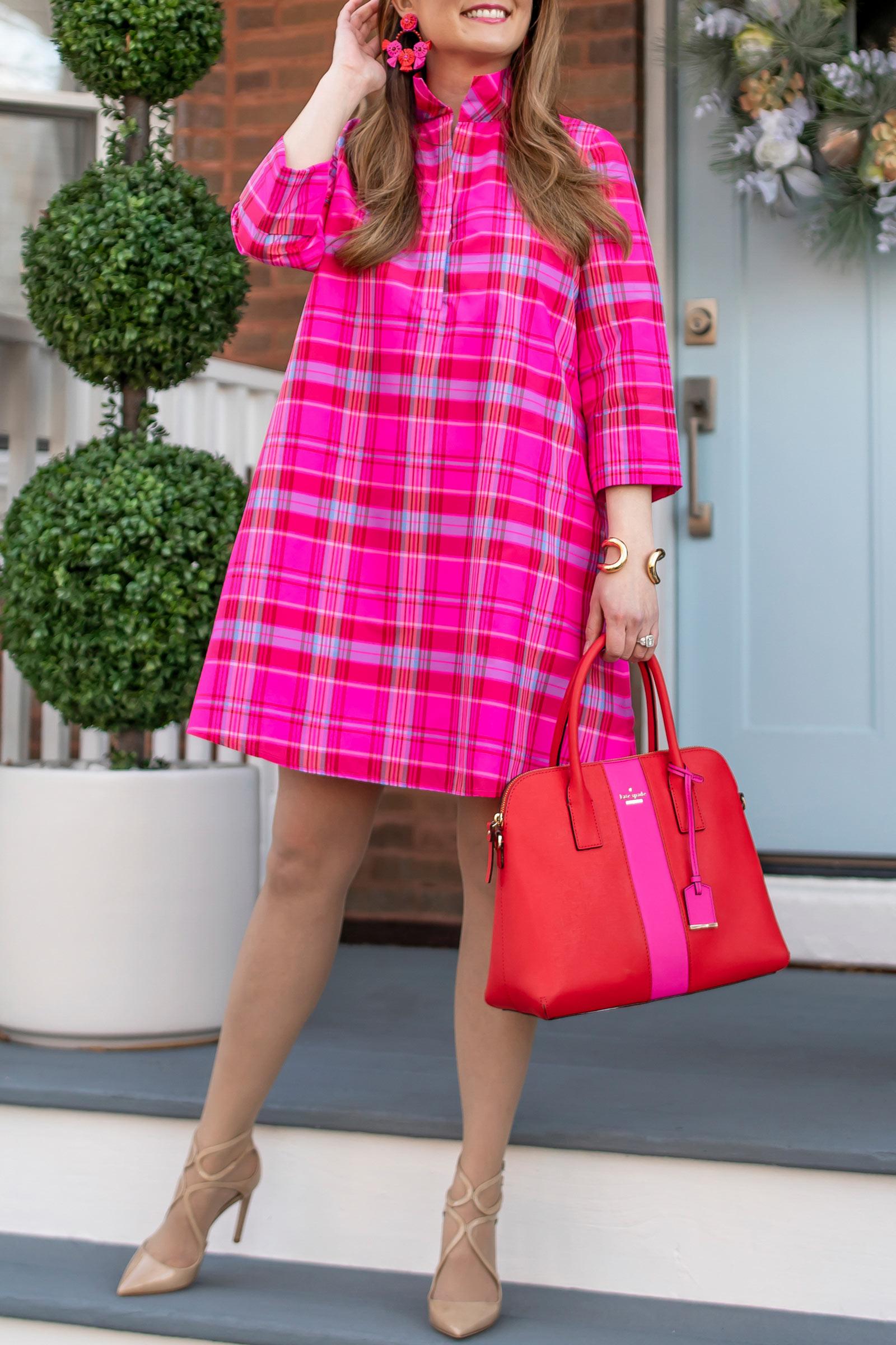 Jennifer Lake Kate Spade Red Pink Bag