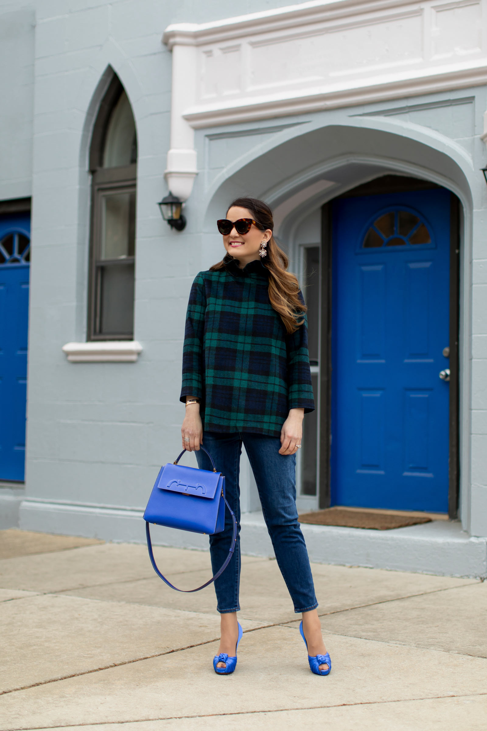 Jennifer Lake Tuckernuck Tartan Top