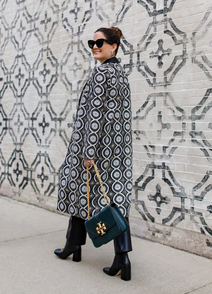 Tory Burch Black White Coat
