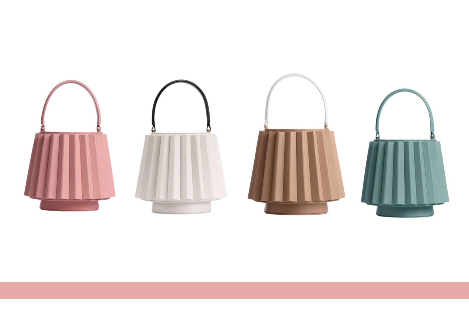 Mlouye Pleated Lantern Bag
