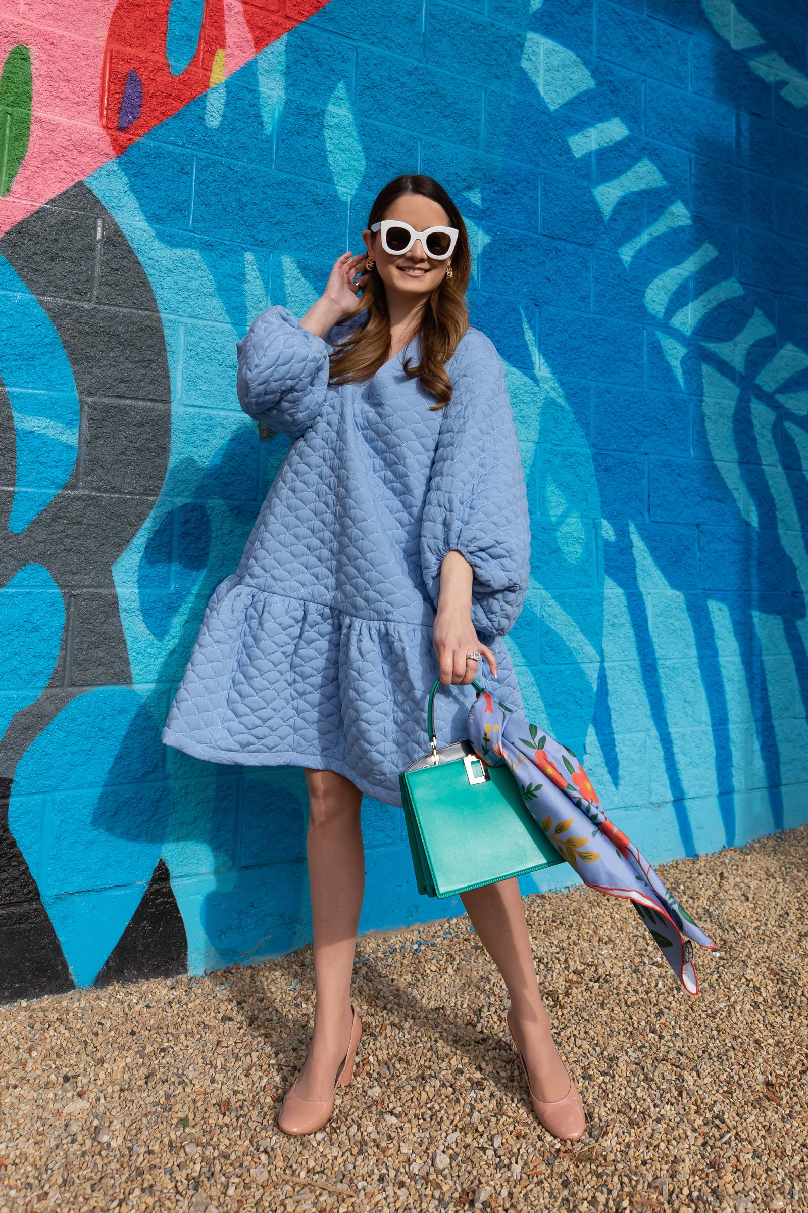 ASOS Blue Quilted Dress