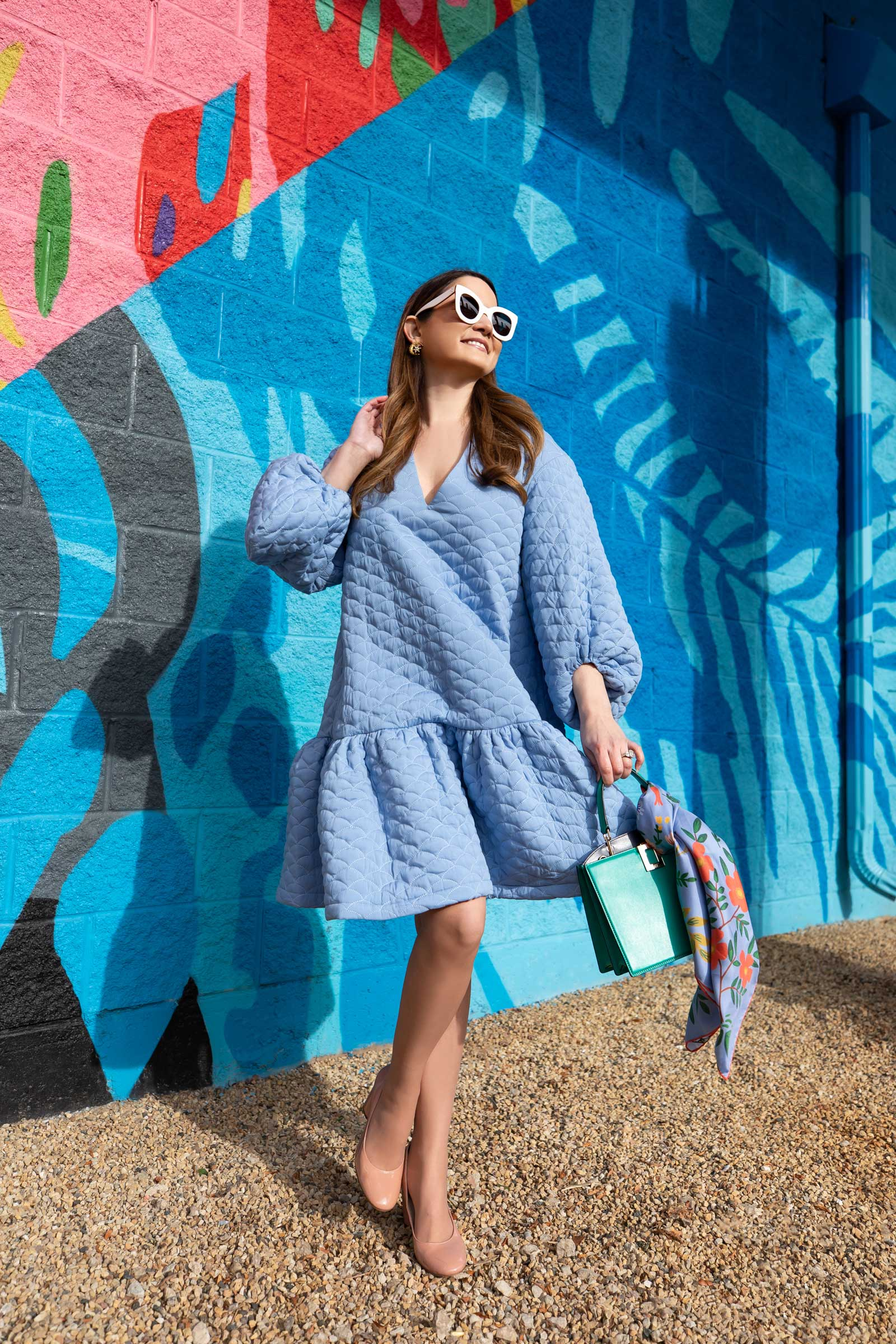 ASOS Edition Quilted Mini Dress