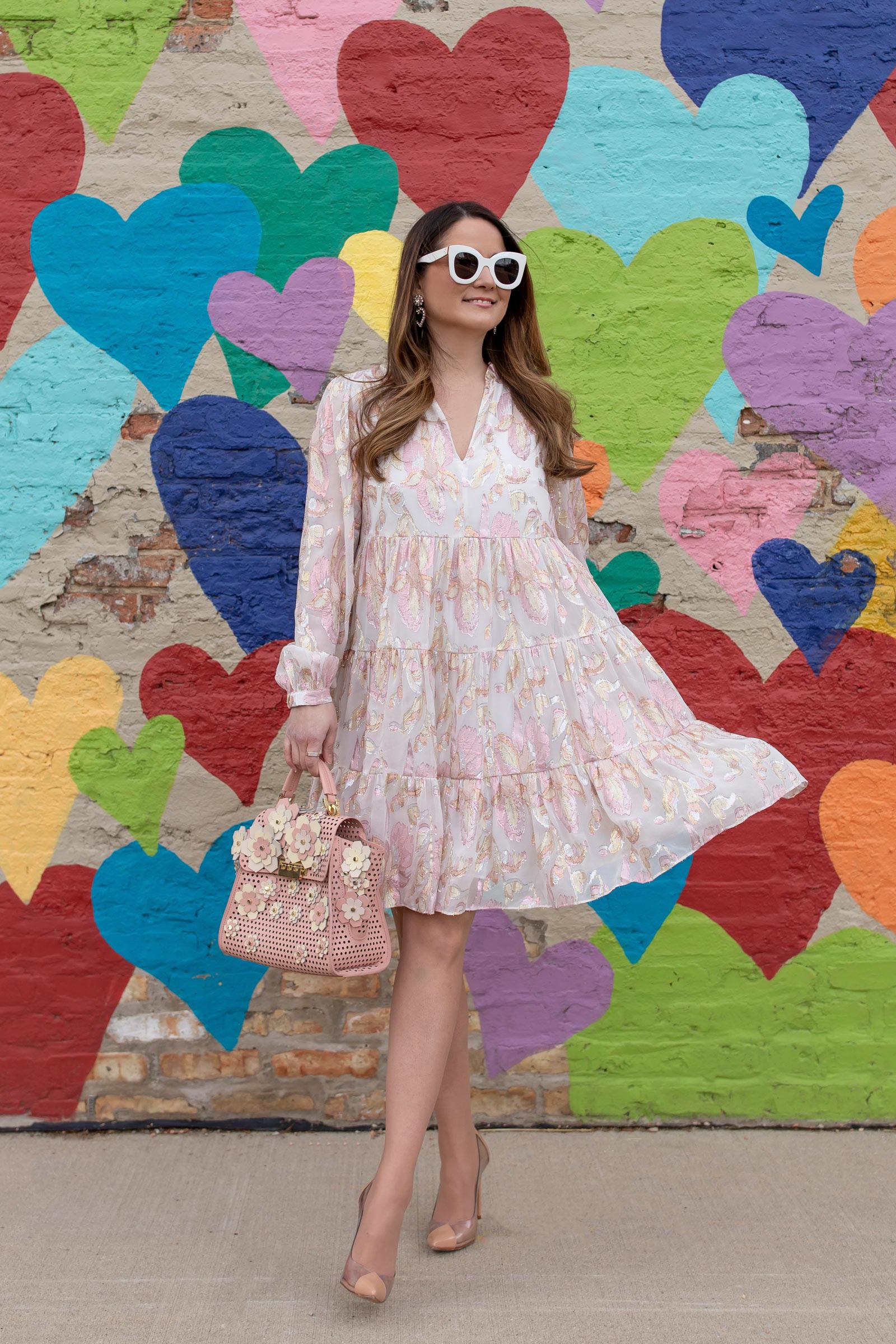 Lilly Pulitzer Floral Metallic Dress