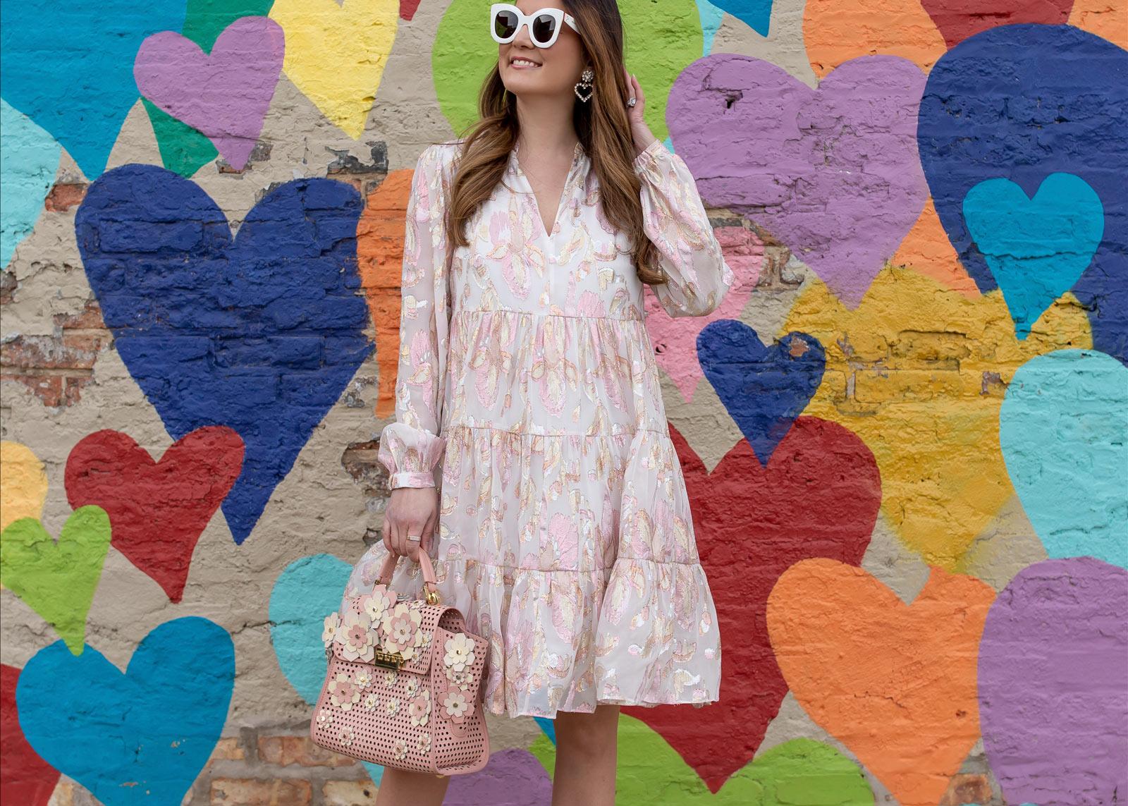 Lilly Pulitzer Ivory Pink Metallic Dress