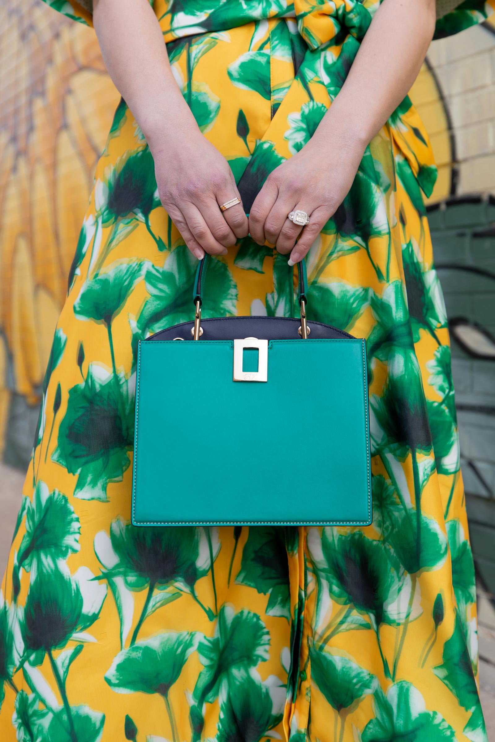 Roger Vivier So Vivier Green Bag