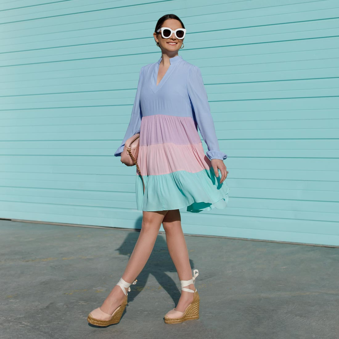 Sail to Sable Tiered Dress