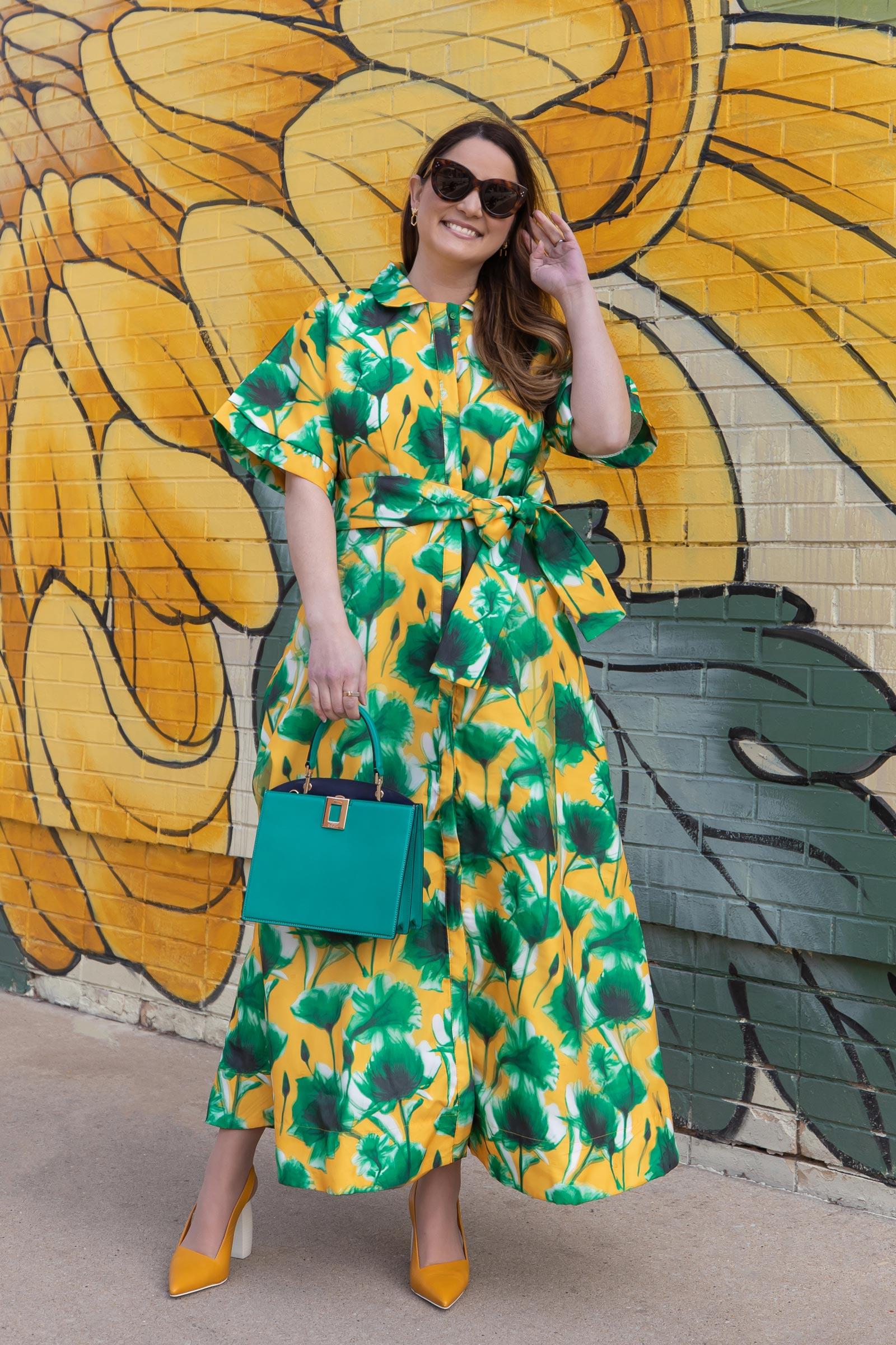 Shop BURU 3D Floral Dress