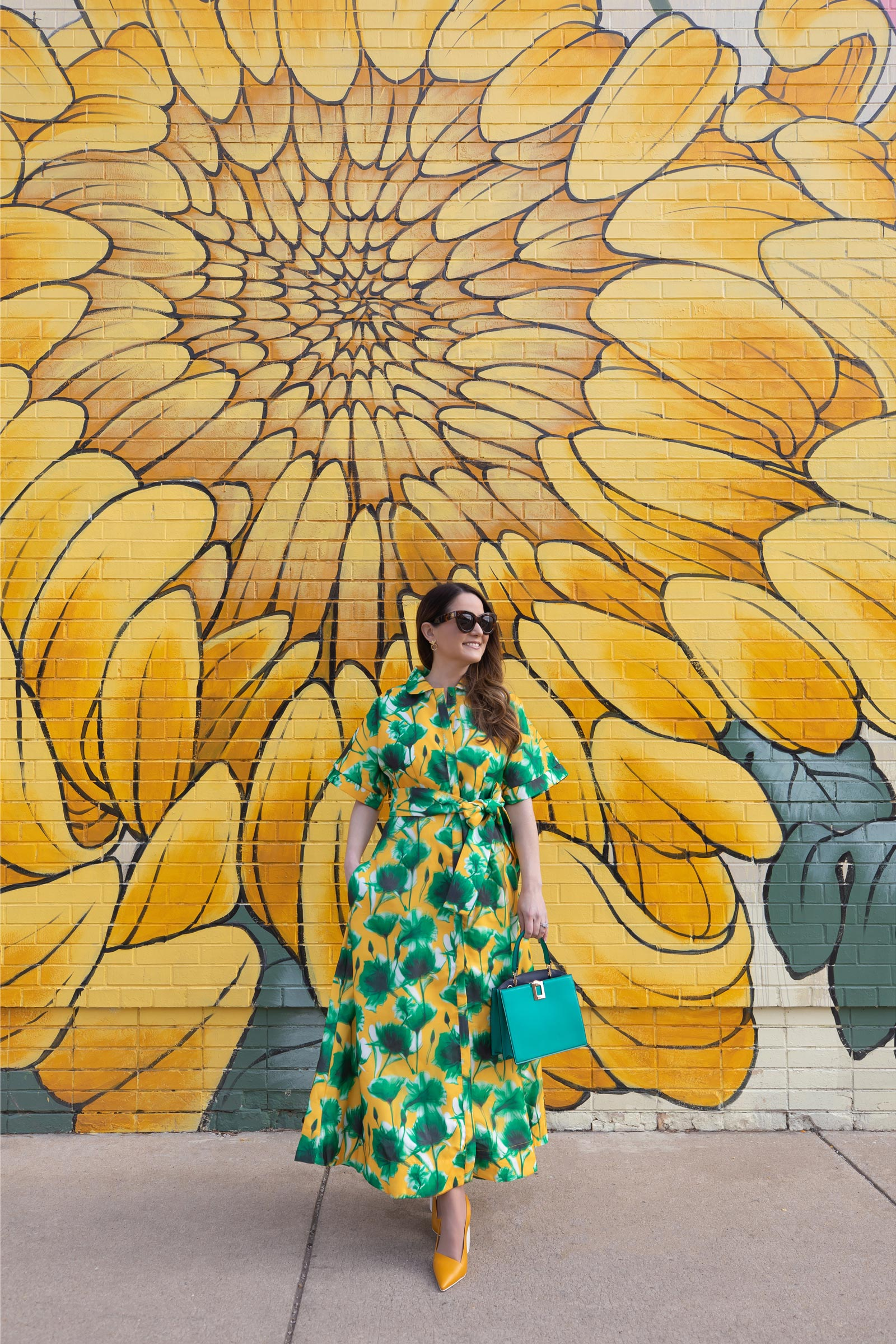 Style Charade Green Floral Dress