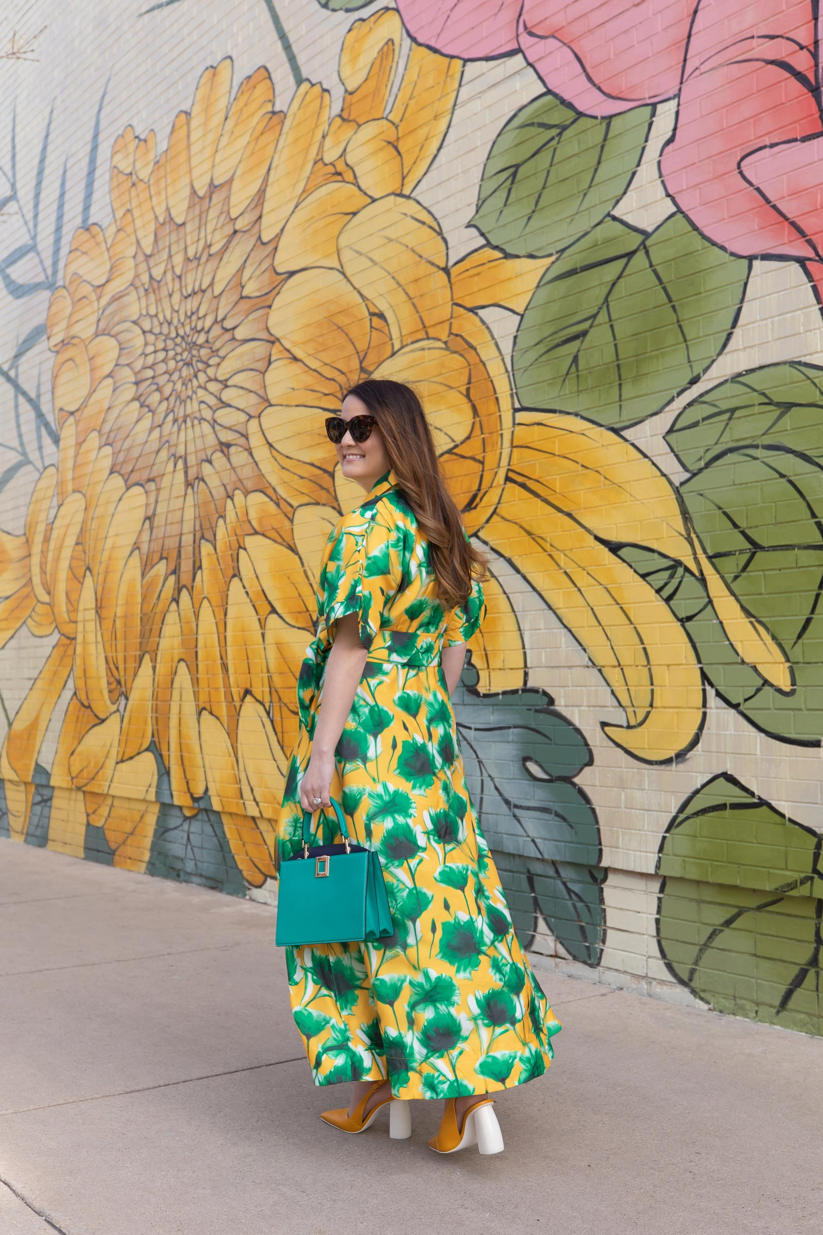 Yellow Floral Mural Chicago