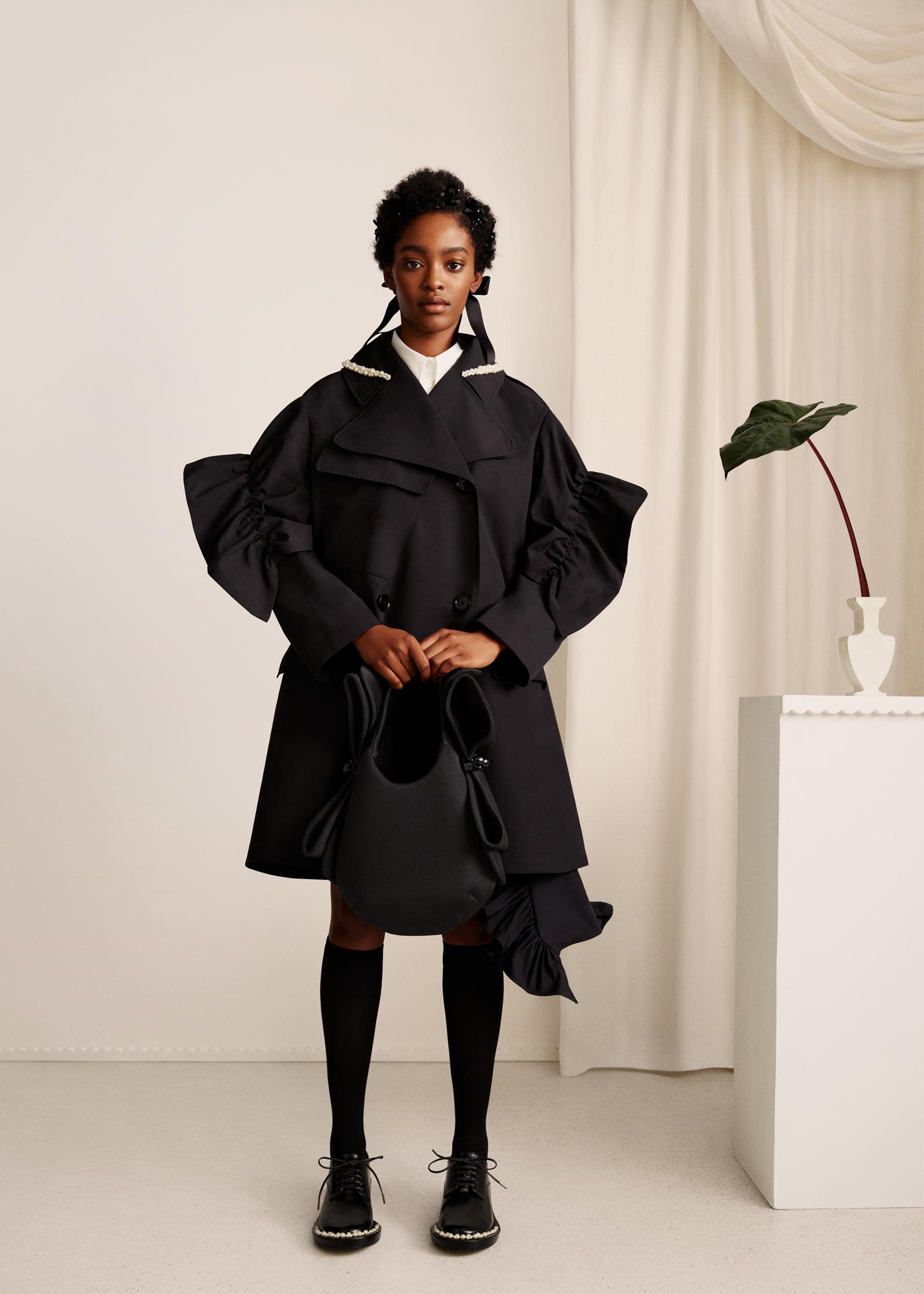 HM Simone Rocha Black Coat
