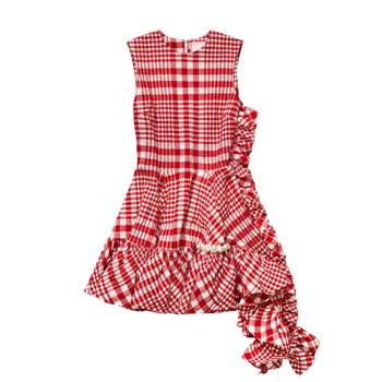 Red Plaid HM Dress