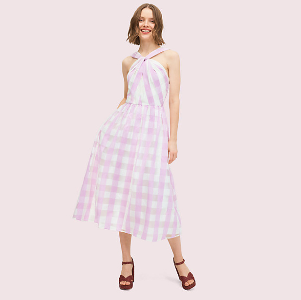 kate spade gingham organza dress