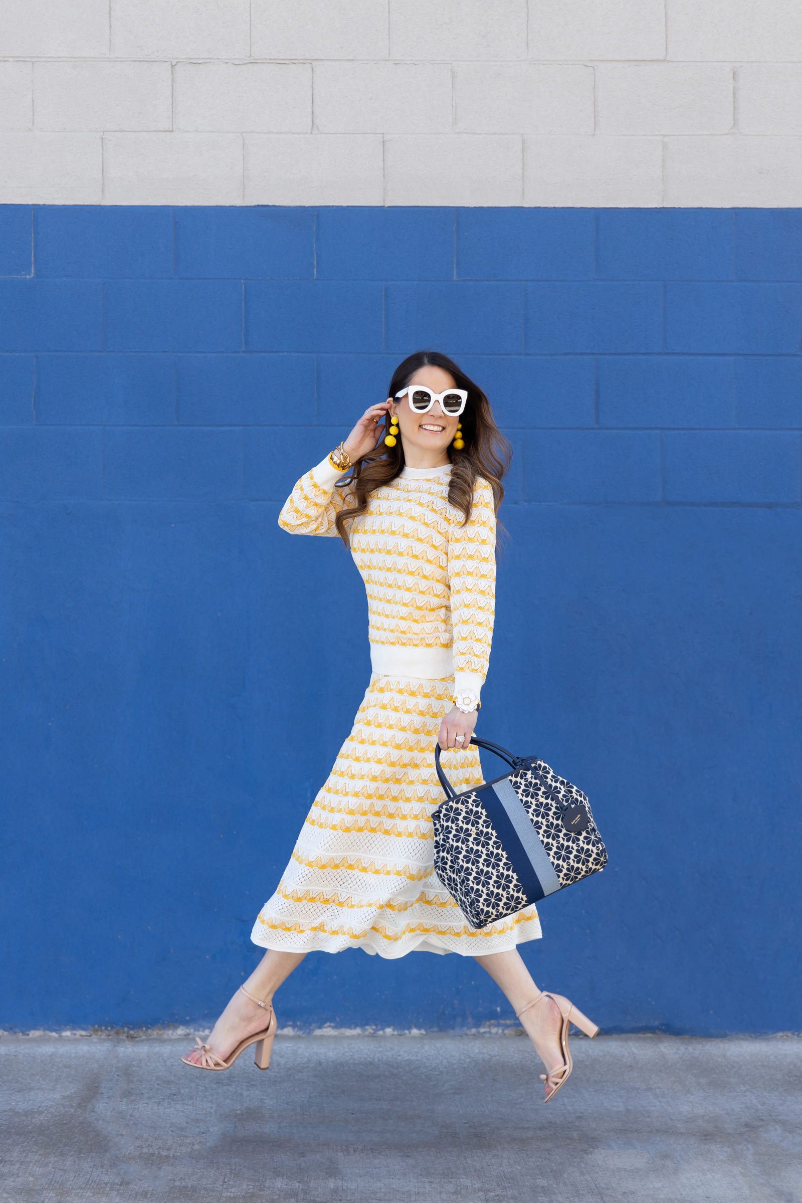 Jennifer Lake Kate Spade Yellow Sweater