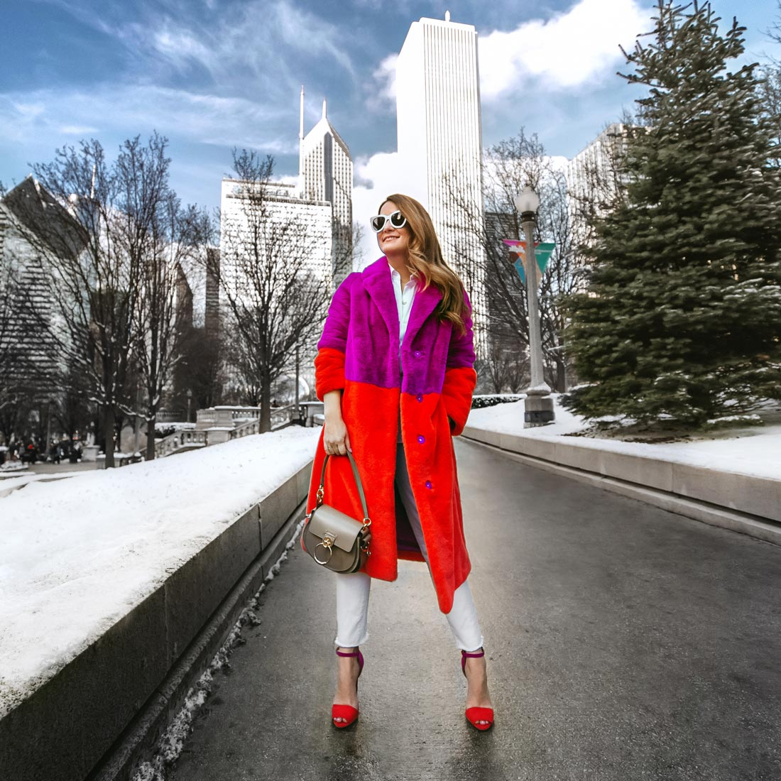 Jennifer Lake Red Pink Coat