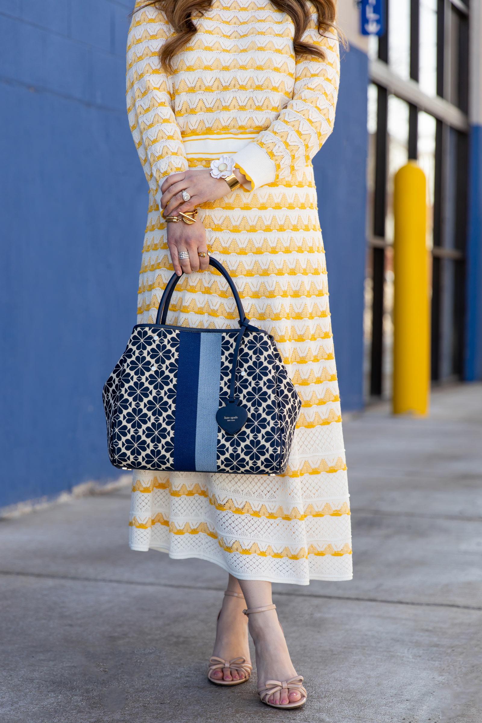 Kate Spade Yellow Pointelle Skirt