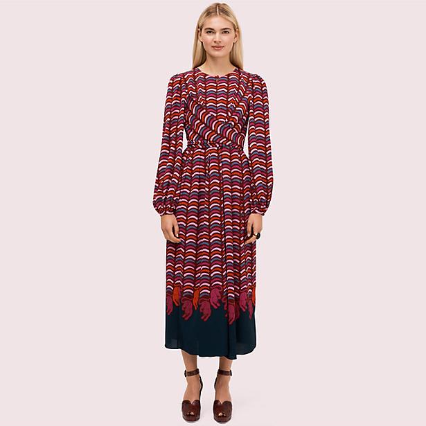 Rawr Crepe Midi Dress