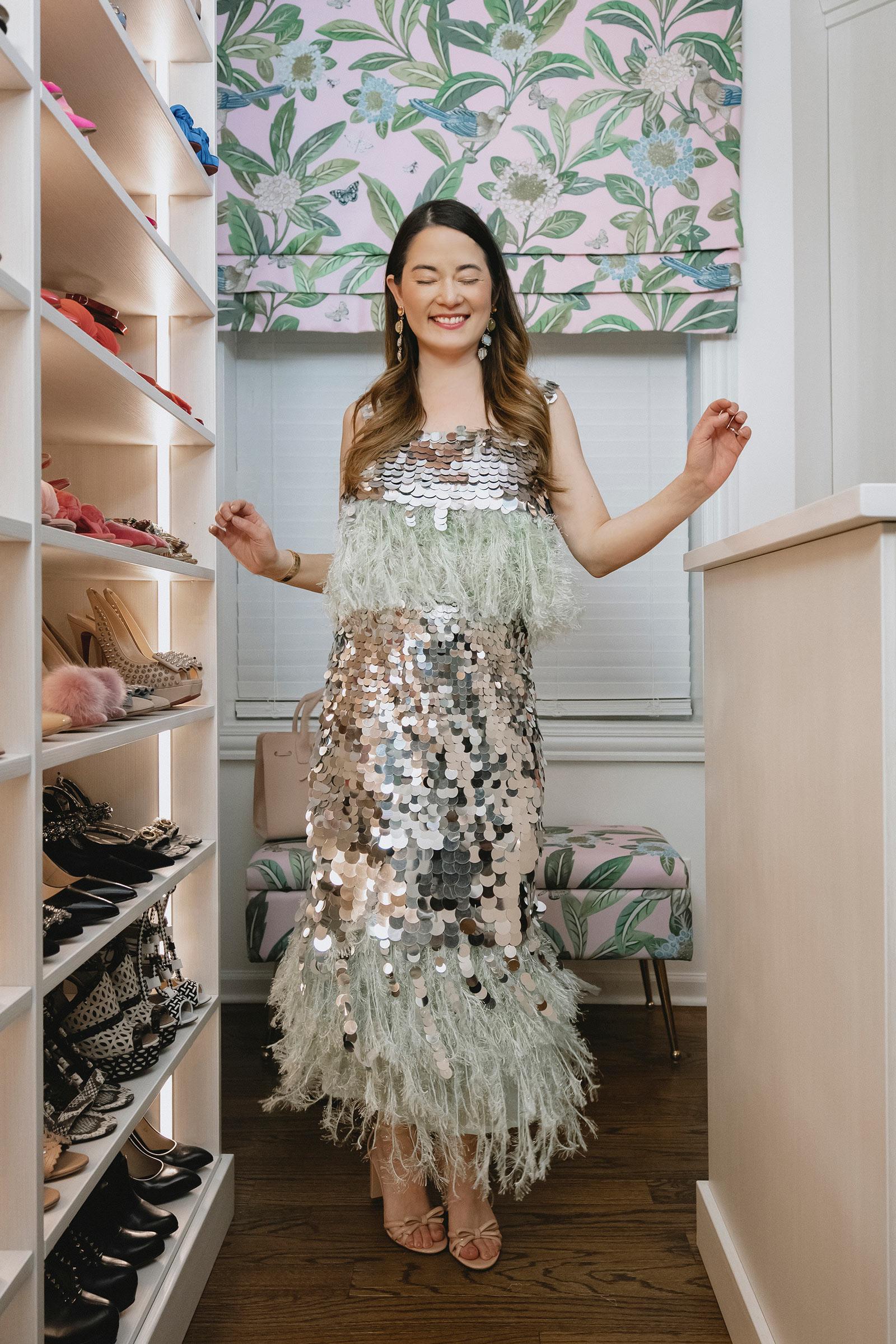 ASOS Sequin Fringe Dress