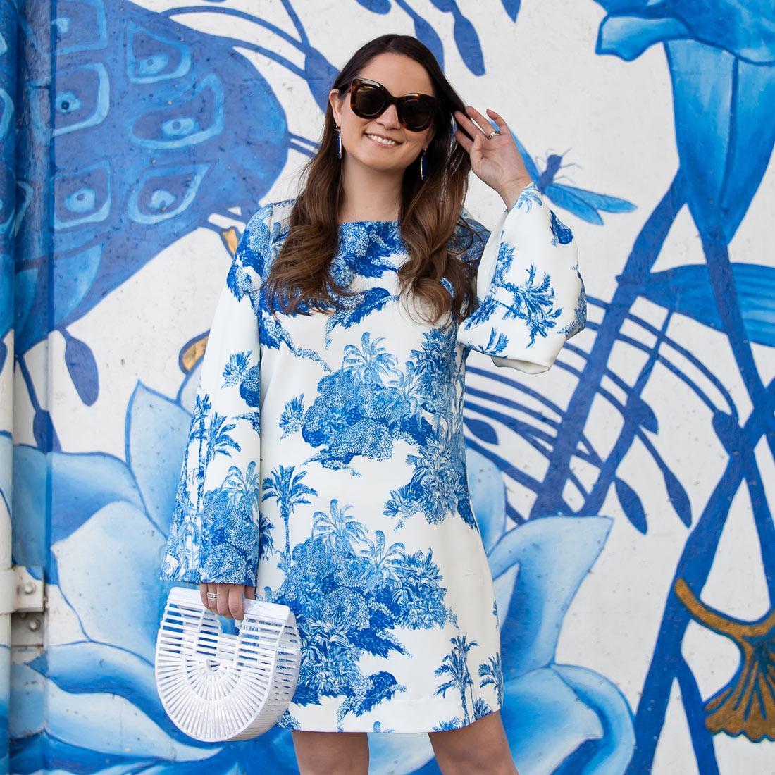 Blue White Chinoiserie Dress
