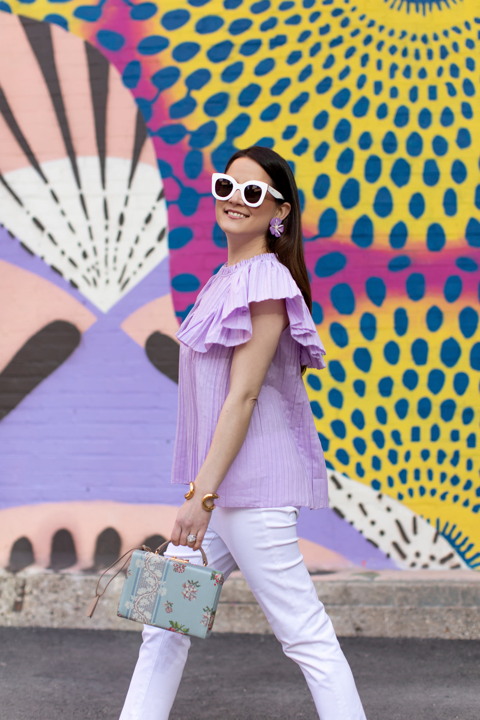 Lilac Pleated Top