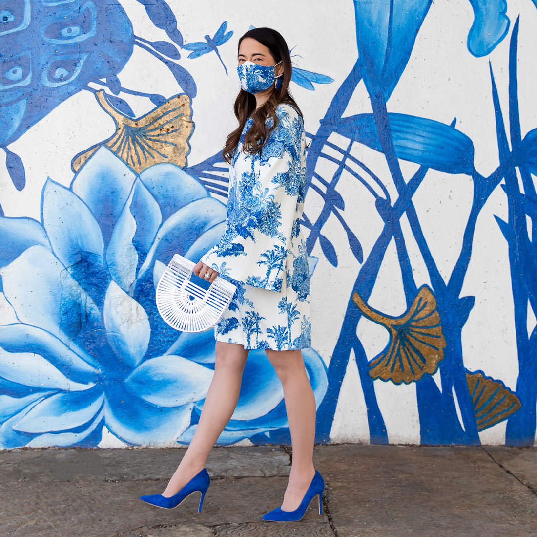 Mestiza New York Blue White Dress