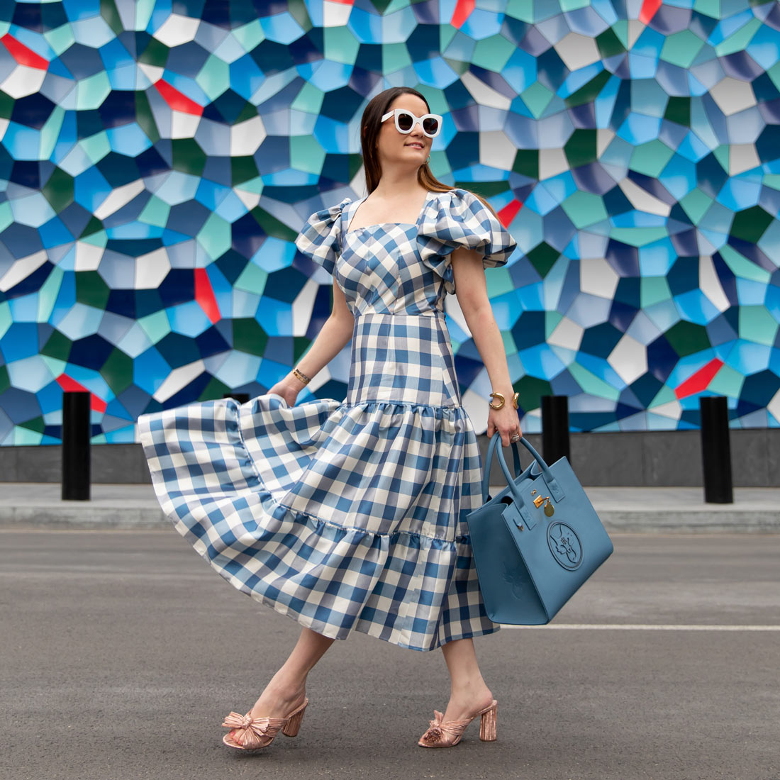 Tuckernuck Blue Gingham Dress