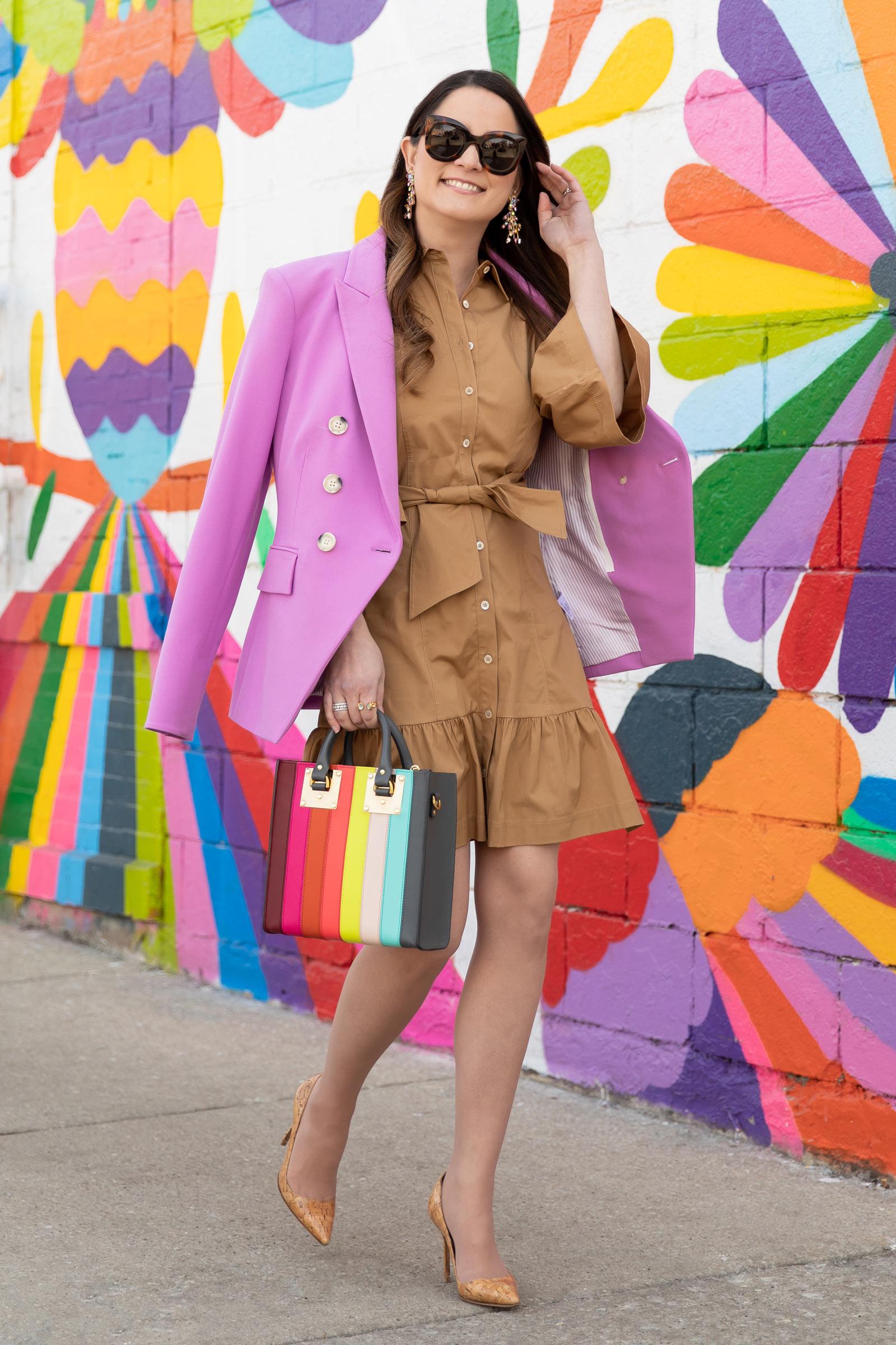 Veronica Beard Pink Miller Blazer