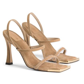 Good American Square Toe Heels