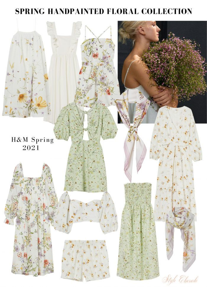 HM Handpainted Floral Dresses