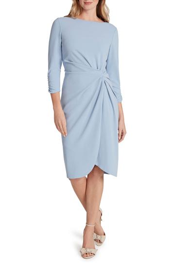 Tahari Blue Sheath Dress