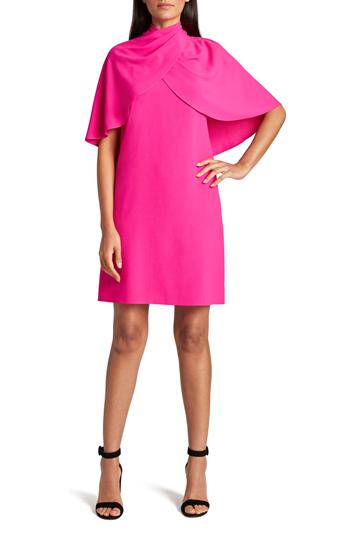 Tahari Pink Cape Dress