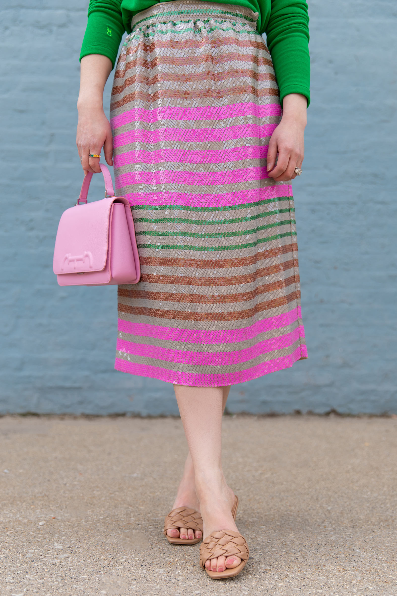 J. Crew Collection Stripe Sequin Skirt