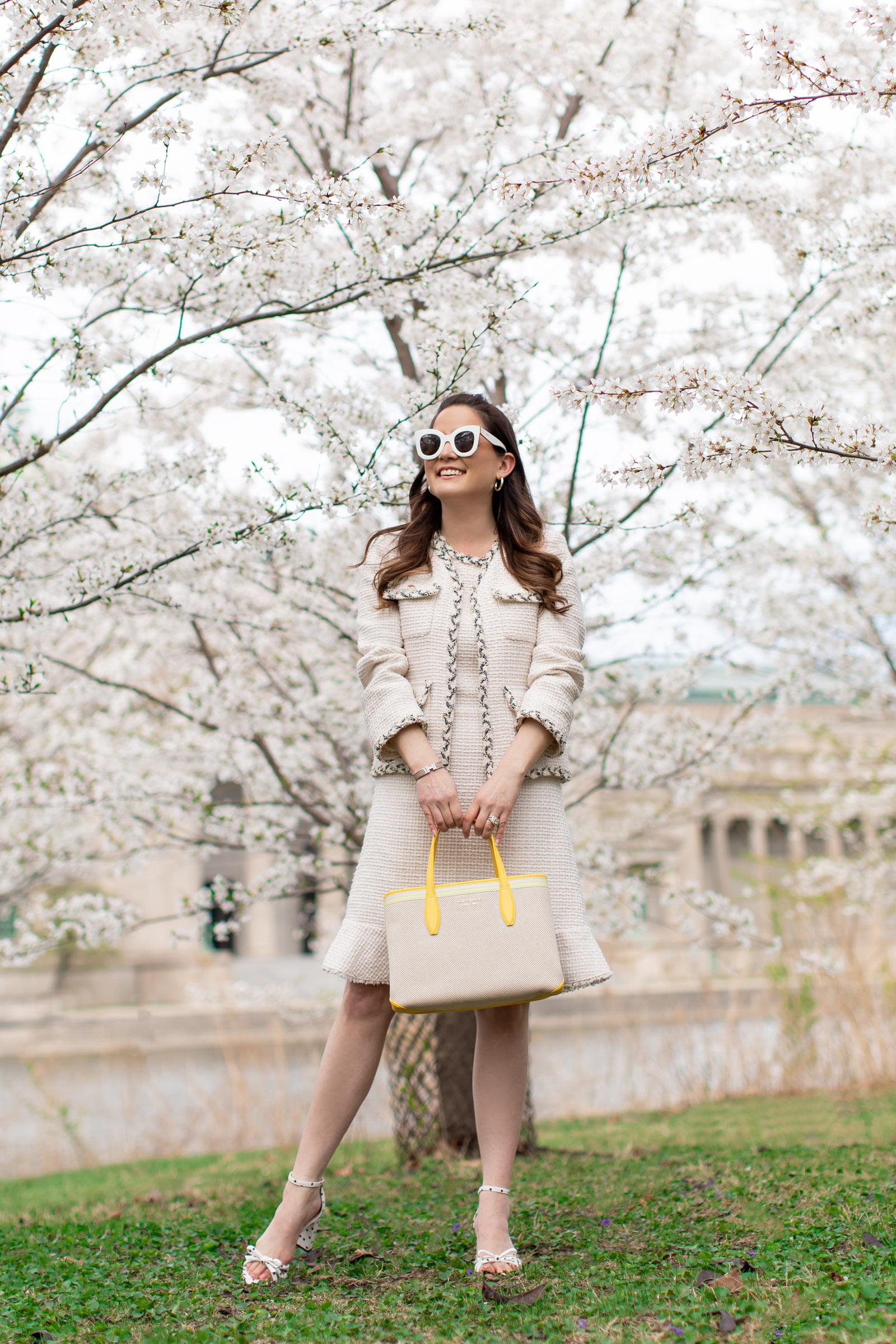 Jennifer Lake Kate Spade Tweed Dress