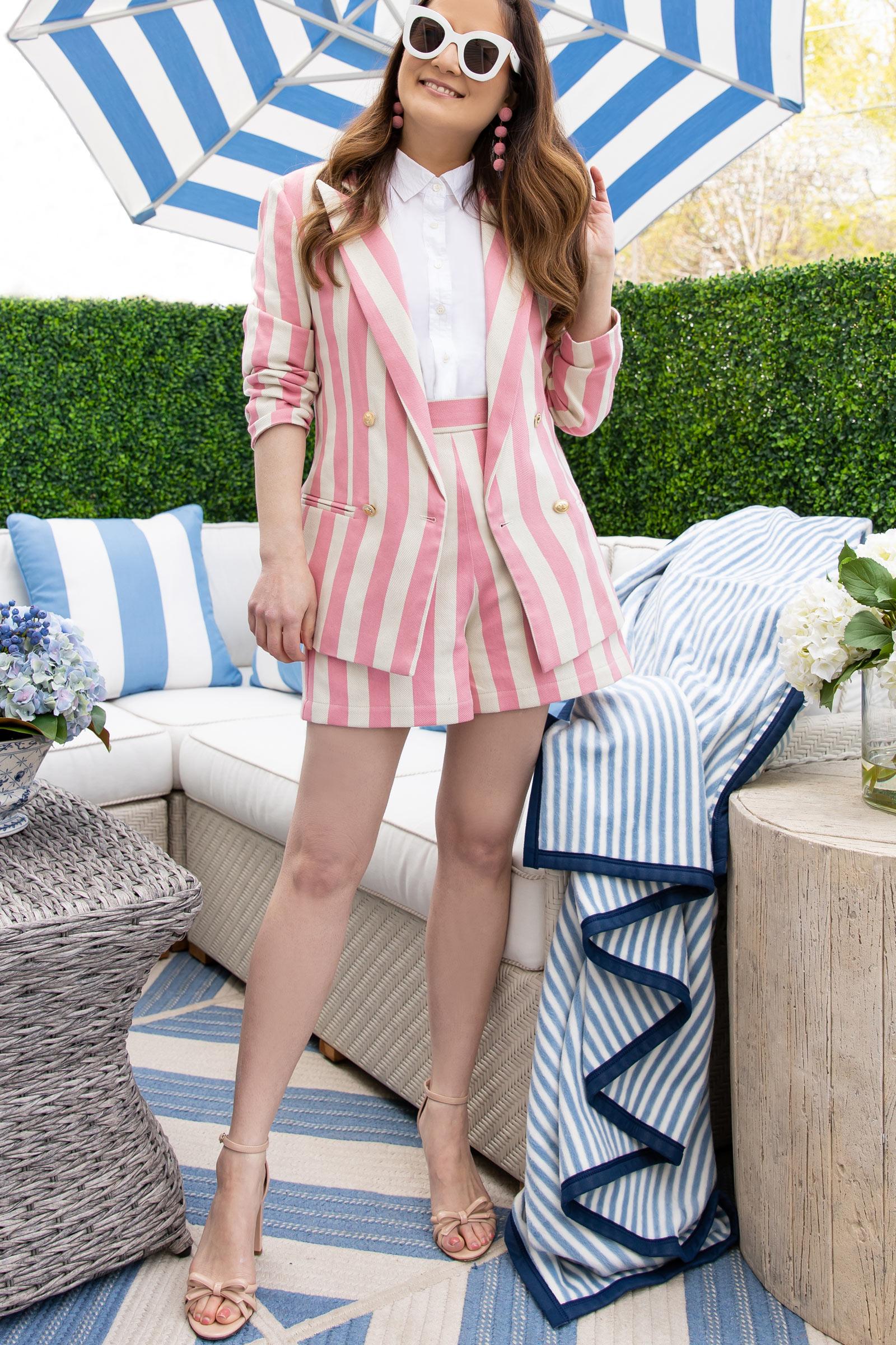 Jennifer Lake Pink Stripe Blazer