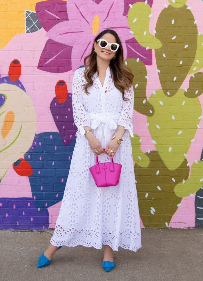 My Go-To Lilly Pulitzer White Eyelet Dress for Spring