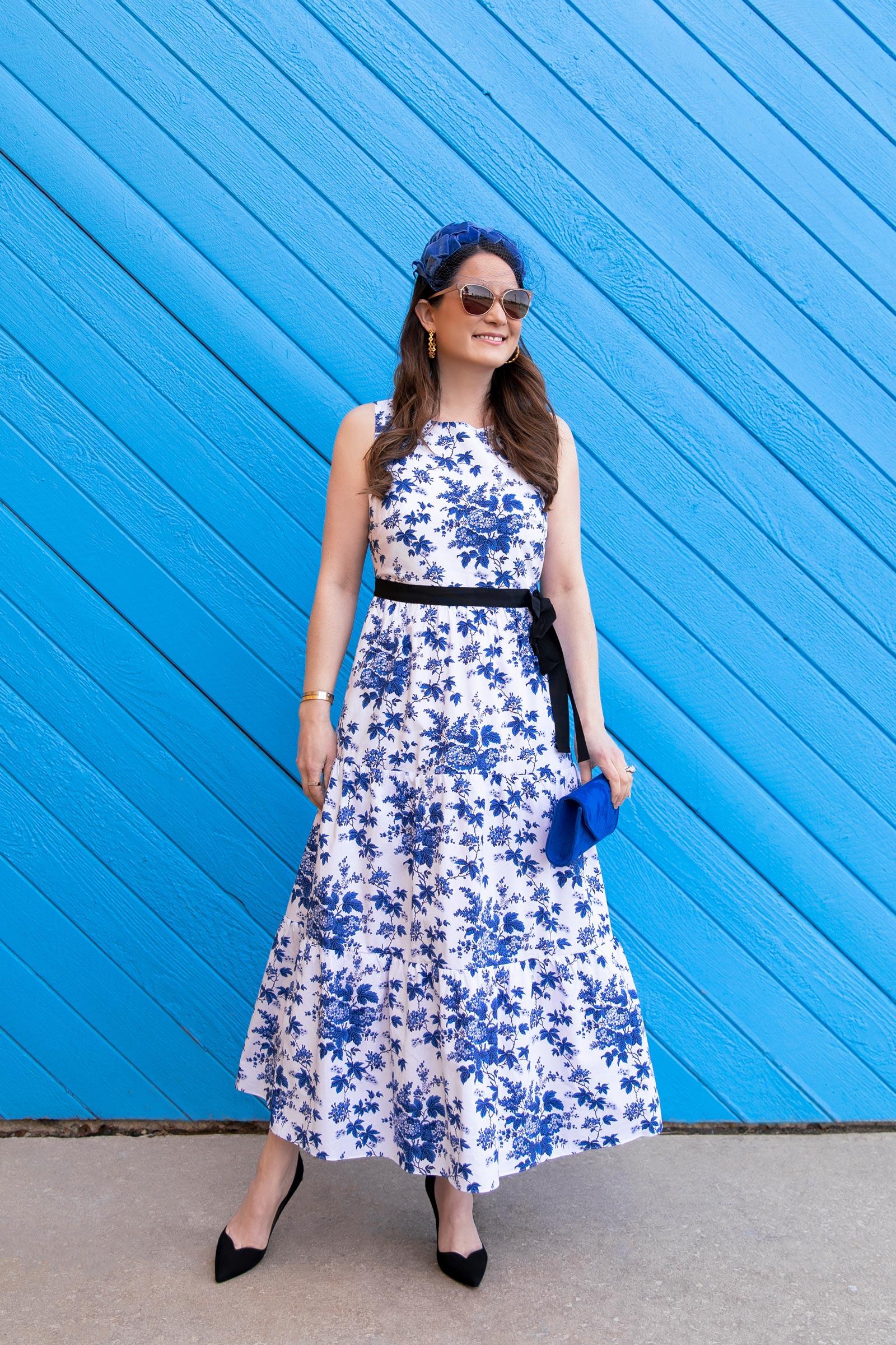 LK Bennett Blue Floral