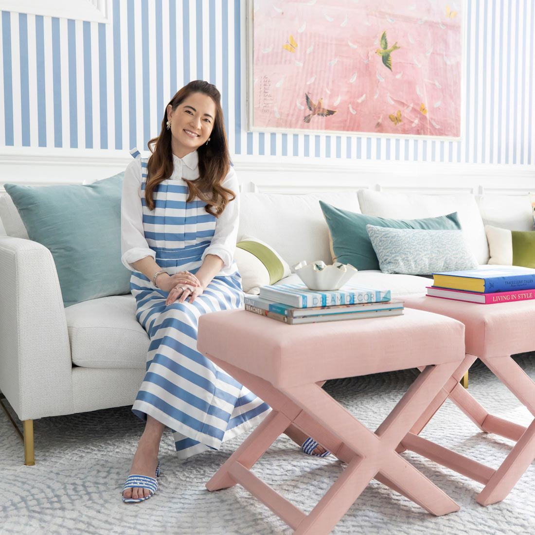 Styling Pink X-Benches