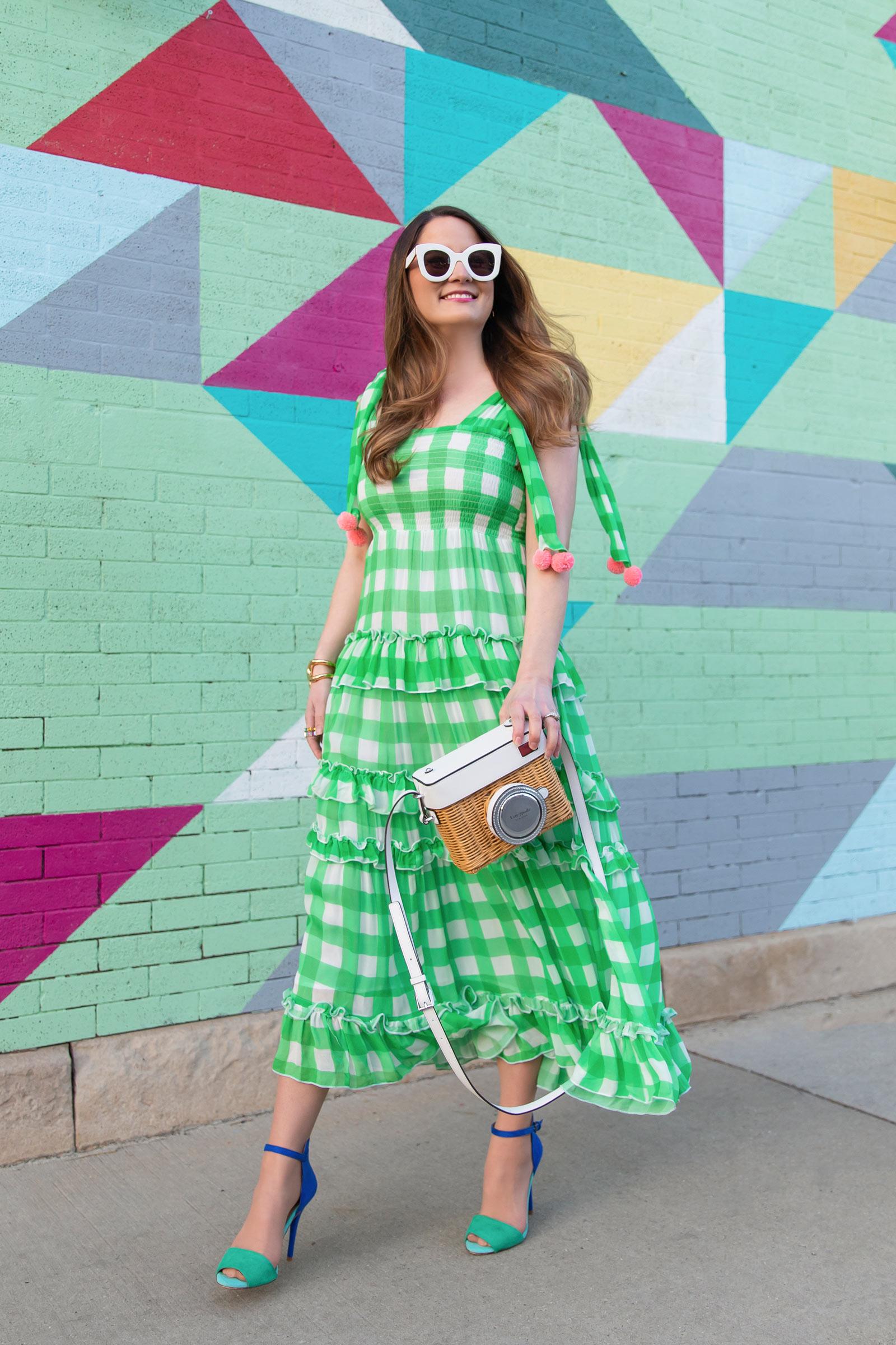 Sundress Green Gingham Dress