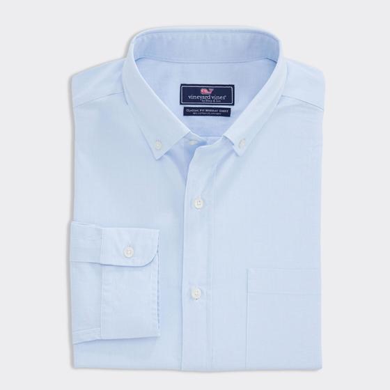vineyard vines mens blue shirt