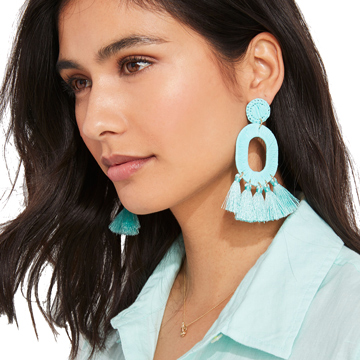 vineyard vines tassel earrings