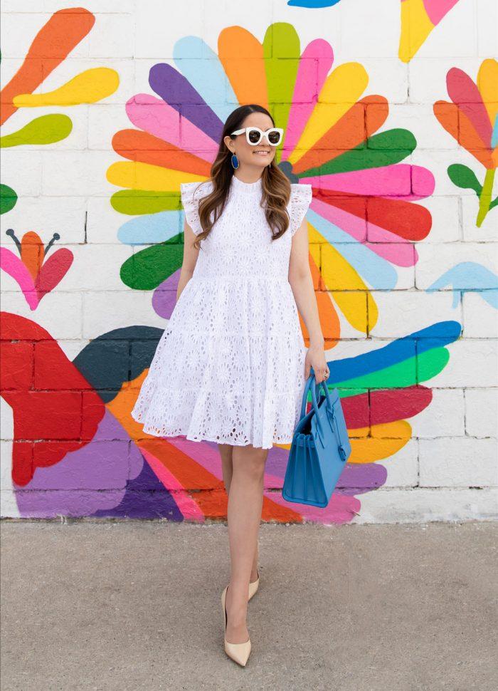 White Eyelet Tiered Dress