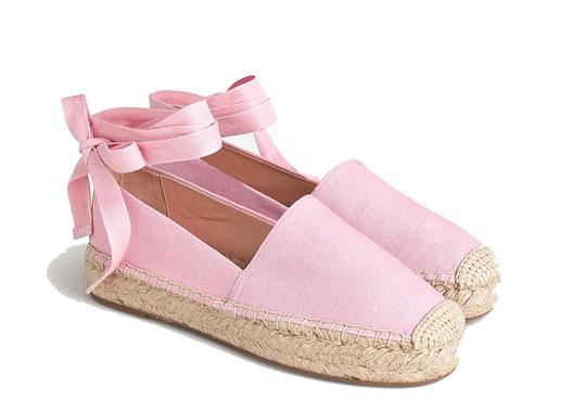 JCrew Pink Espadrilles