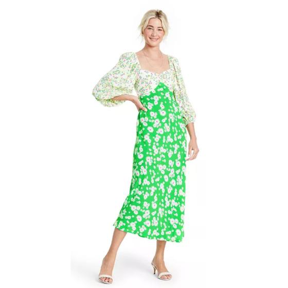 Rixo Puff Sleeve Dress