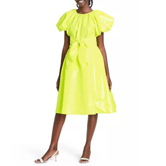 Target Christopher John Rogers Puff Sleeve Dress