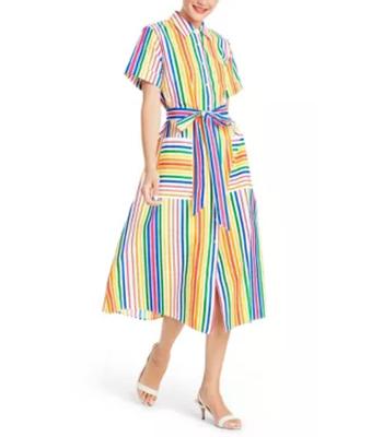 Target Christopher John Rogers Striped Shirtdress