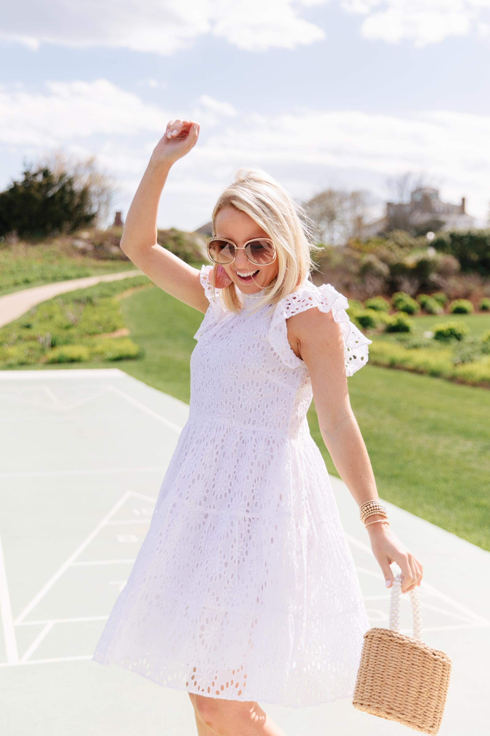 Amy Littleson White Eyelet Dress