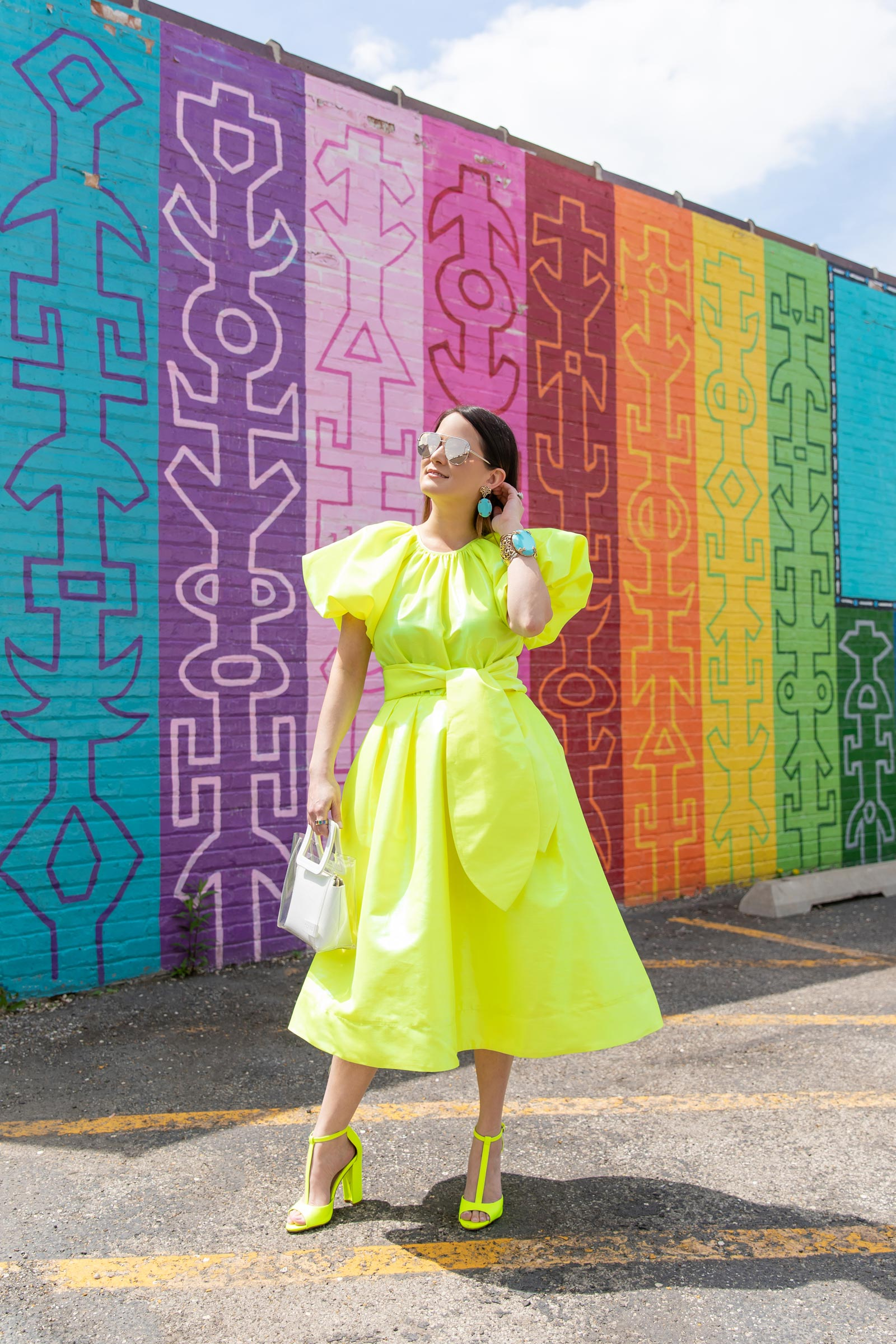 christopher john rogers neon yellow dress