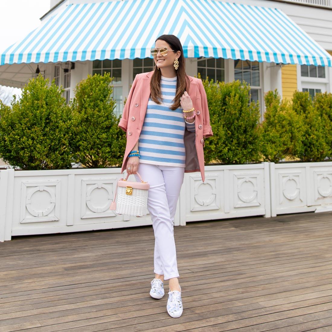 Jennifer Lake Blue Stripe Sweater