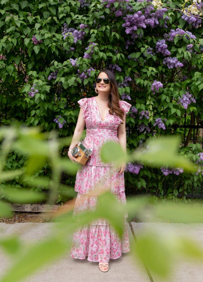 Jennifer Lake Pink Floral Maxi